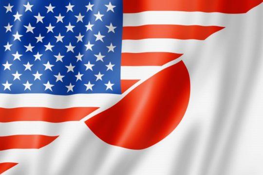 USA and Japan flags