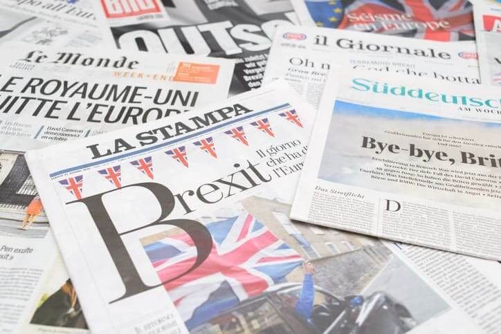 Newspapers from around the world with the news of the Brexit referendum on front pages