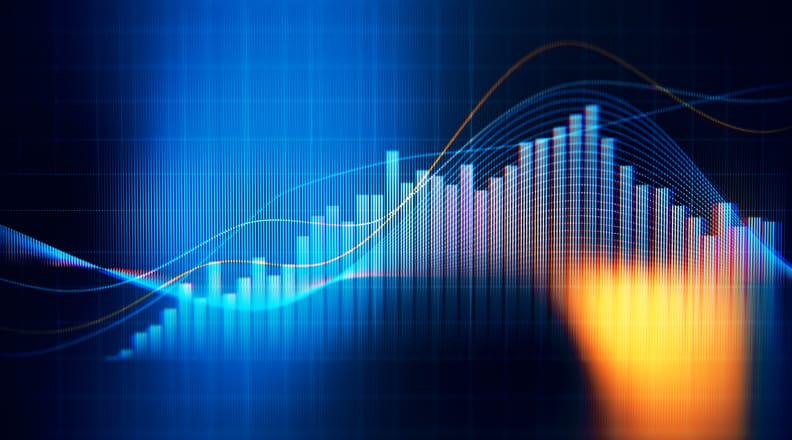 Financial data analysis graph.