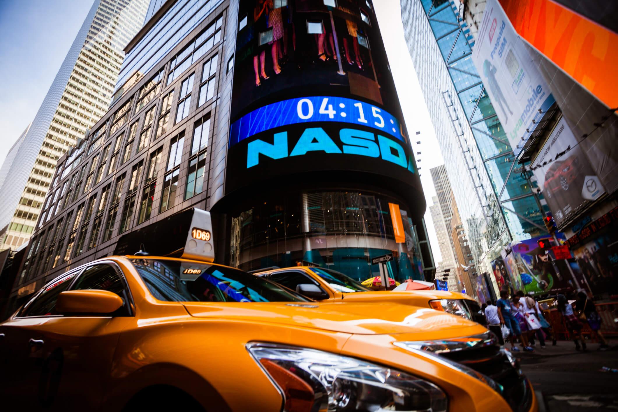 Nasdaq in Times Square